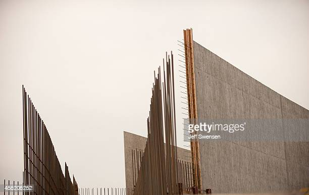 The walls of the visitors center of the Flight 93 National Memorial Visitor Center Complex is shown during a media tour of the complex September 10...