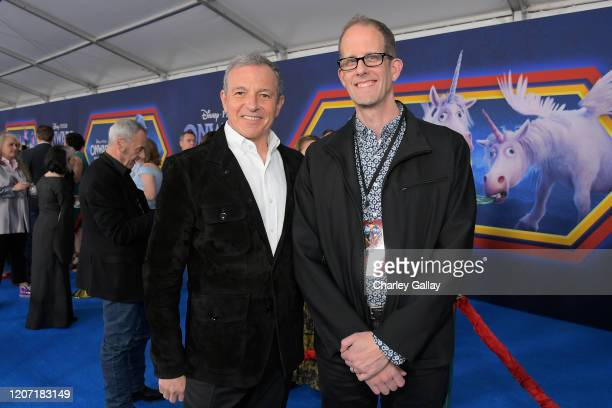The Walt Disney Company Chairman and CEO Bob Iger and Executive producer Pete Docter attend the world premiere of Disney and Pixar's ONWARD at the El...