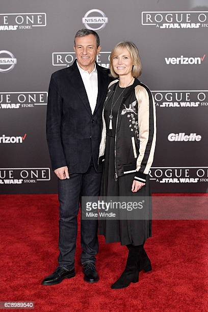 The Walt Disney Company Chairman and CEO Bob Iger and Willow Bay attend the premiere of Walt Disney Pictures and Lucasfilm's 'Rogue One A Star Wars...