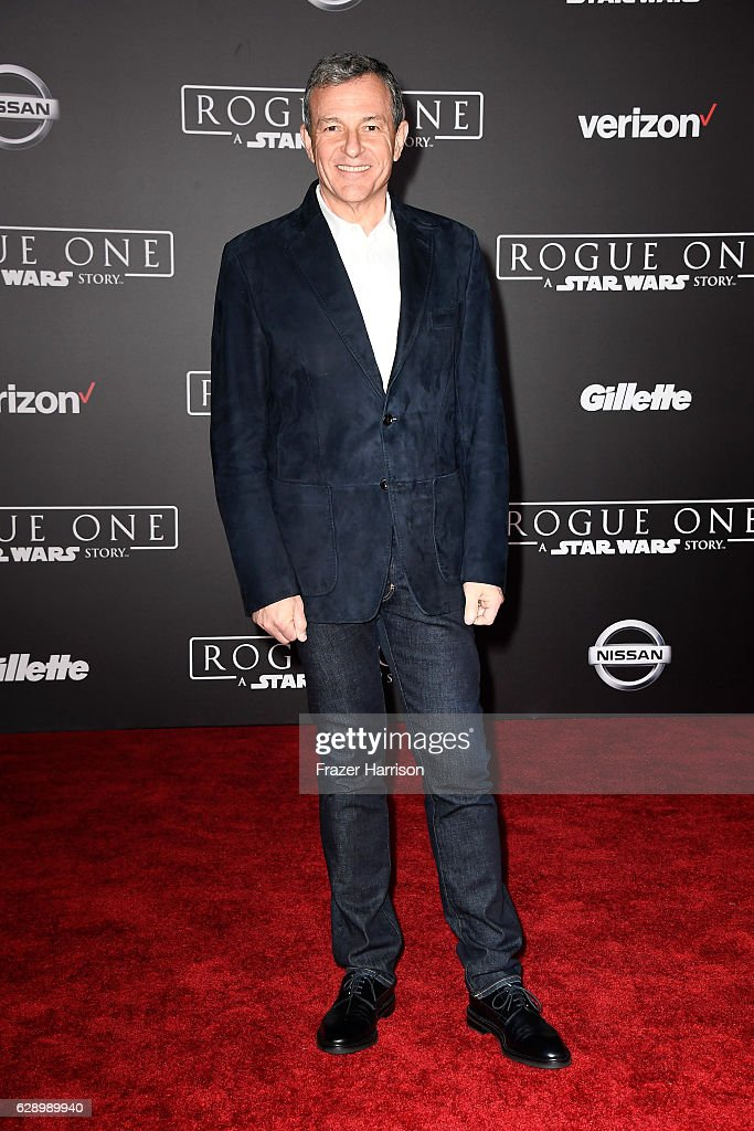 The Walt Disney Company Chairman and CEO Bob Iger attends the premiere of Walt Disney Pictures and Lucasfilm's 'Rogue One: A Star Wars Story' at the Pantages Theatre on December 10, 2016 in Hollywood, California.