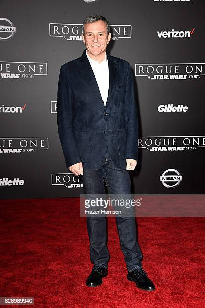 The Walt Disney Company Chairman and CEO Bob Iger attends the premiere of Walt Disney Pictures and Lucasfilm's Rogue One A Star Wars Story at the...
