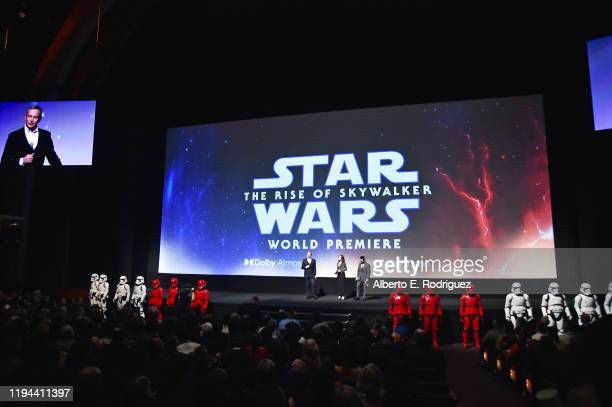 The Walt Disney Company Chairman and CEO Bob Iger, Producer and President of Lucasfilm Kathleen Kennedy and Director, Writer and Producer J.J. Abrams...