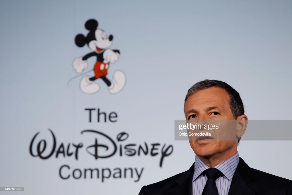 The Walt Disney Company Chairman and CEO Robert Iger delivers remarks during an event introducing Disney's new 'Magic of Healthy Living' program at the Newseum June 5, 2012 in Washington, DC. As part of the new healthy eating initiative, all products advertised on Disney's child-focused television channels, radio stations and Web sites must adhear to a new set of strict nutritional standards. Addionally, Disney-licensed products that meet criteria for limited calories, saturated fat, sodium and sugar can display a logo - Mickey Mouse ears and a check mark - on their packaging.