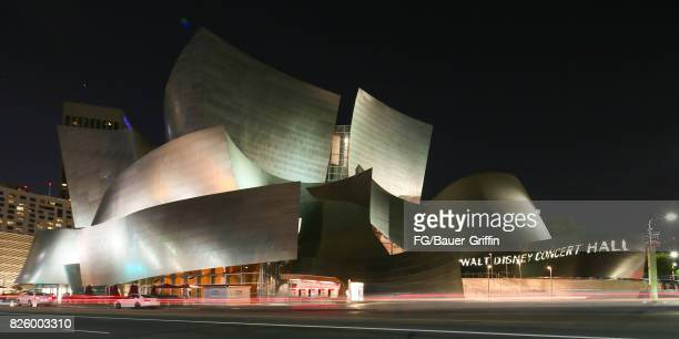 The Walt Disney Concert Hall at Night on July 22, 2017 in Los Angeles, California.