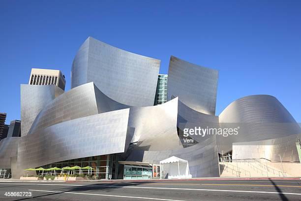the walt disney concert hall, los angeles, california - walt disney concert hall stock pictures, royalty-free photos & images
