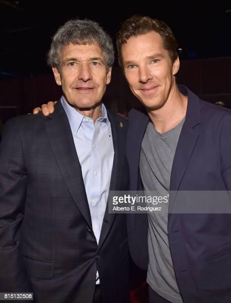 The Walt Disney Studios Chairman Alan Horn and actor Benedict Cumberbatch of AVENGERS INFINITY WAR took part today in the Walt Disney Studios live...