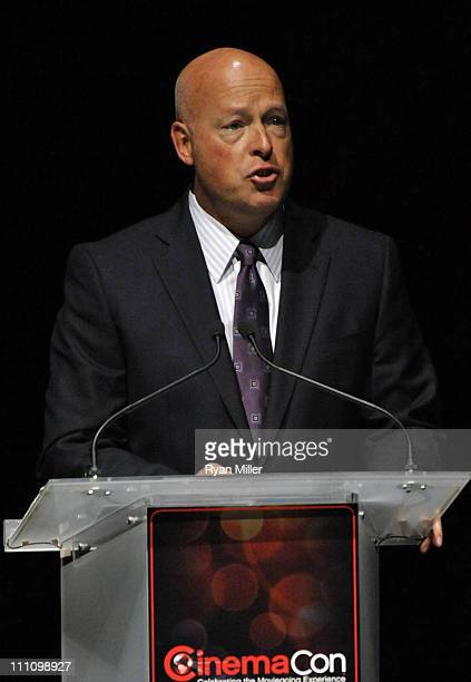 The Walt Disney Studios President of Distribution Bob Chapek attends the CinemaCon the official convention of the National Association of Theatre...