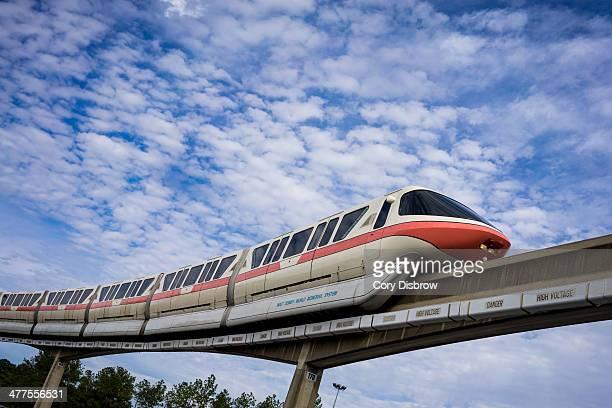 CONTENT] The Walt Disney World Monorail glides along the Epcot line Epcot Walt Disney World Florida