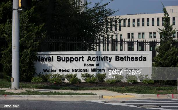 The Walter Reed National Military Medical Center is seen on May 14 2018 in Bethesda Maryland First lady Melania Trump underwent a procedure on Monday...