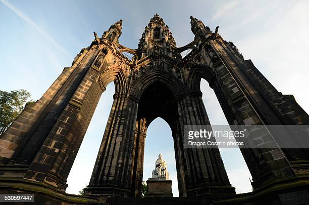 The Walter Scott monument on Princess Street