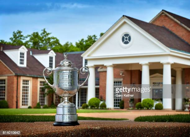 The Wanamaker Trophy at Bellerive Country Club home of the 2018 PGA Championship on May 15 2017 in St Louis Missouri