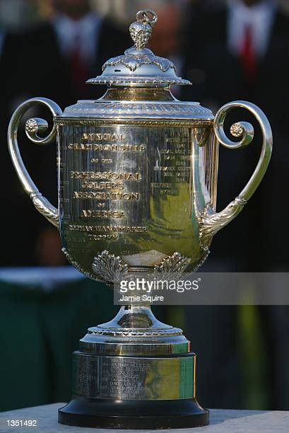 The Wannamaker trophy during the final round on August 18, 2002 for the PGA Championship at Hazeltine National Golf Club in Chaska, Minnesota.