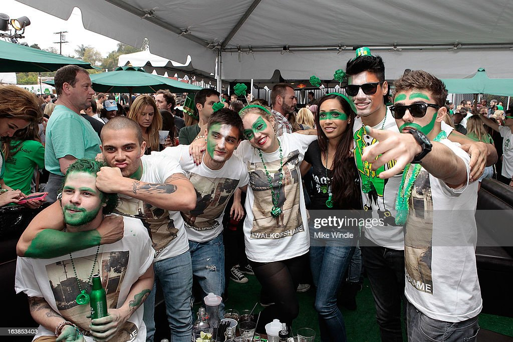 The Wanted attend Rock & Reilly's Irish Rock Pub hosts 2nd annual St. Paddy's block party on Sunset Strip on March 16, 2013 in West Hollywood, California.