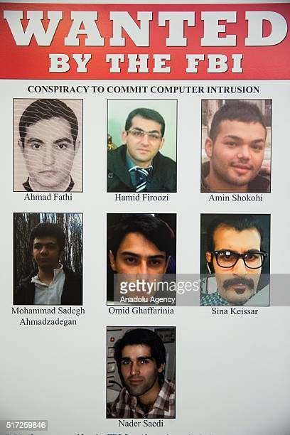 The Wanted Poster for the seven Iranian hackers indicted by the US Department of Justice and FBI for attacking financial institutions and a dam in...