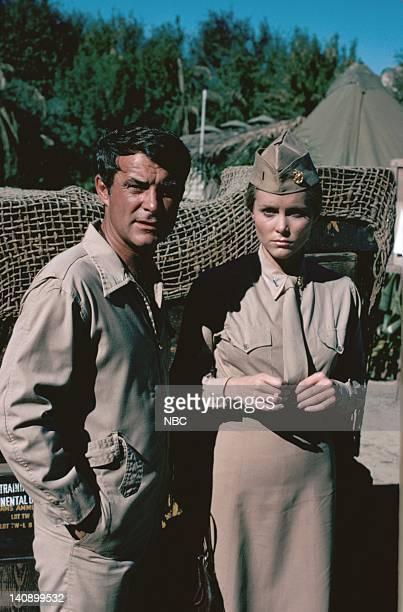 SHEEP The War Biz Warrior Episode 14 Aired 1/4/77 Pictured Robert Conrad as Maj Greg 'Pappy' Boyington Nancy Conrad as Nurse Nancy Gilmore Photo by...