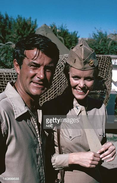 SHEEP The War Biz Warrior Episode 14 Aired 1/4/77 Pictured Robert Conrad as Maj Greg 'Pappy' Boyington Nancy Conrad as Nurse Nancy Gilmore Photo by...