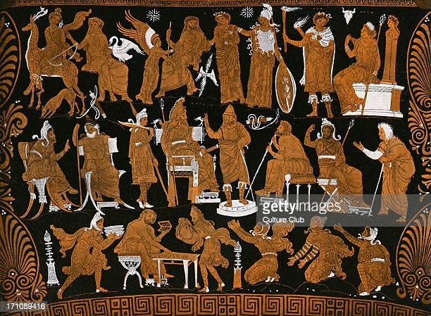 The war council of Darius presented on a Greek red figure vase Darius King of Persia 549 BCE 486 BCE