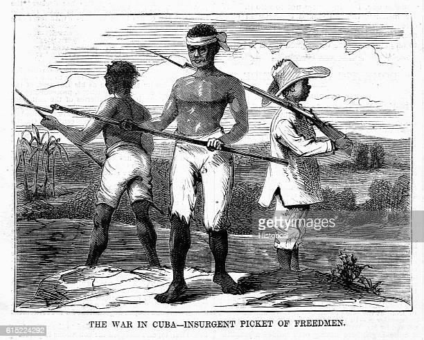 The War in Cuba--Insurgent Picket of Freedmen