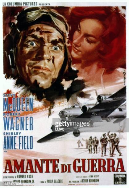 The War Lover poster from left Steve McQueen Shirley Anne Field on Italian poster art 1962