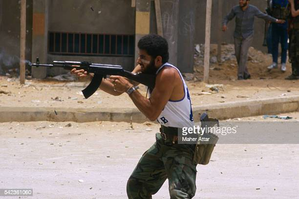 The War of Factions started by Shi'ite Amal Militia opposed to Palestinians loyal to the PLO