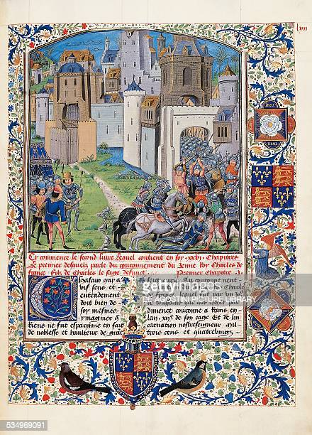 The War of the Roses 14701480 miniature from Recueil des croniques d'Engleterre by Jean of Wavrin manuscript London British Library