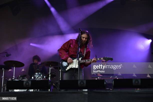 The War On Drugs perform at APE Presents festival at Victoria Park London on June 2 2018 The War on Drugs is an American indie rock band from...