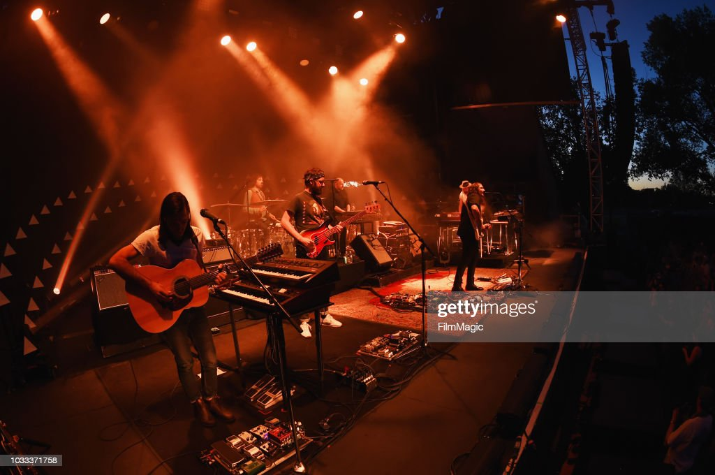 The War On Drugs perform on the Paper Stage during day 1 of Grandoozy on September 14, 2018 in Denver, Colorado.