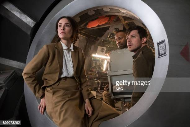 TIMELESS 'A History of San Fran' Episode 210 Pictured Annie Wersching as Emma Whitmore Tonya Glanz as Jessica Evan Lai as Feng Yunshan Michael Rady...