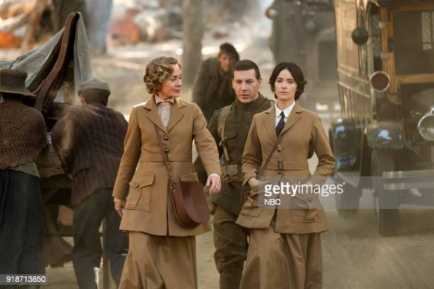 TIMELESS 'The War to End All Wars' Episode 201 Pictured Susanna Thompson as Carol Johnathan Stanley as Mac Abigail Spencer as Lucy Preston