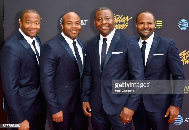 The Wardlaw Brothers arrive at the 32nd annual Stellar Gospel Music Awards at the Orleans Arena on March 25, 2017 in Las Vegas, Nevada.