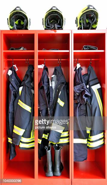 The wardrobe of a fire brigade in LimbachOberfrohna Germany 27 June 2016 Photo Jan Woitas/dpa | usage worldwide