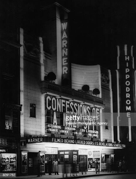 The Warner cinema in London's Leicester Square exhibits 'Confessions of a Nazi Spy' a semidocumentary film on the exposure of Nazis in the US
