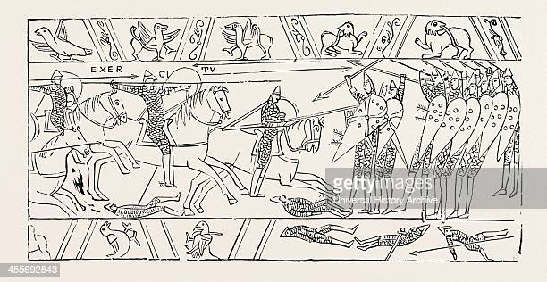 The Warriors Of Hastings From The Bayeux Tapestry
