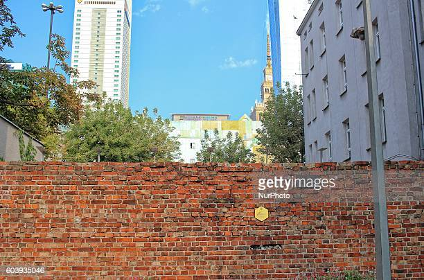 The Warsaw Jewish Ghetto wall remain are seen in Warsaw Poland on September 11 2016