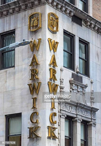 The Warwick New York Hotel which was built in the 1920sone of the most historic hotels in the city and a tourist landmark