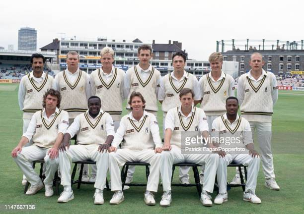 The Warwickshire team before the Benson and Hedges Cup Semi Final between Surrey and Warwickshire at The Oval London 7th June 1994 Pictured are Asif...