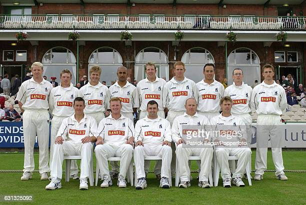 The Warwickshire team group before the Benson and Hedges Semi Final between Lancashire and Warwickshire at Old Trafford Manchester 7th June 2002 Back...