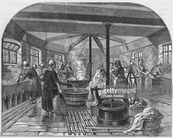 The Wash House At Brixton Prison In London Circa 1850