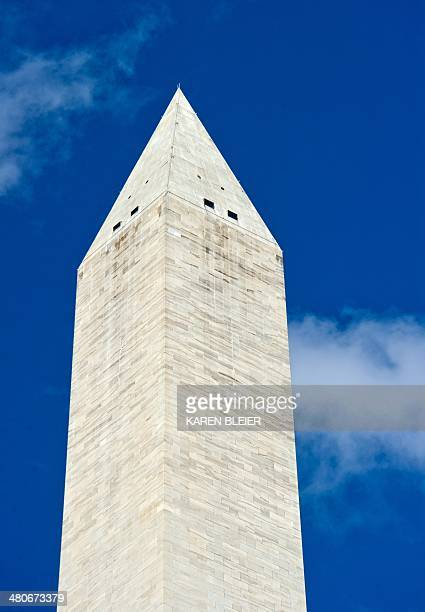 The Washington Monument is seen March 26 2014 in Washington DC The National Park Service announced March 26 that the Washington Monument will reopen...