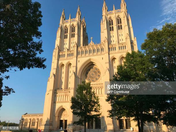 The Washington National Cathedral is pictured on Sunday August 13 2017 in Washington DC / AFP PHOTO / Daniel SLIM