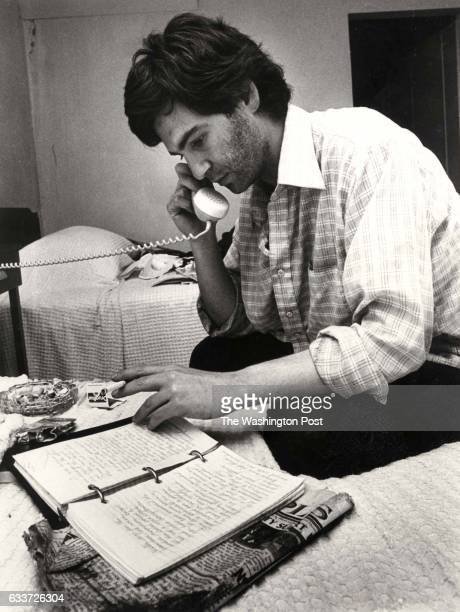 The Washington Post via Getty Images reporter Charles Krauss On the phone with editors in Washington discuss the scene at Jonestown