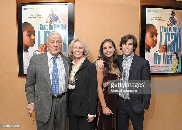 The Washington Post VP atlarge Ben Bradlee his wife/journalist Sally Quinn Pary Bradlee and husband/Associate Producer Quinn Bradlee attend the HBO...