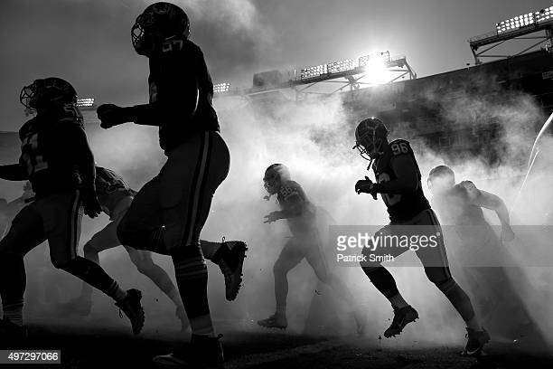 The Washington Redskins are introduced before playing the New Orleans Saints at FedExField on November 15, 2015 in Landover, Maryland. The Washington...