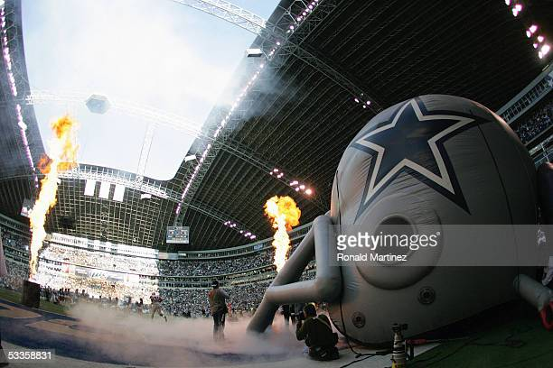 The Washington Redskins take the field against the Dallas Cowboys on December 26, 2004 at Texas Stadium in Irving, Texas. The Cowboys won 13-10.