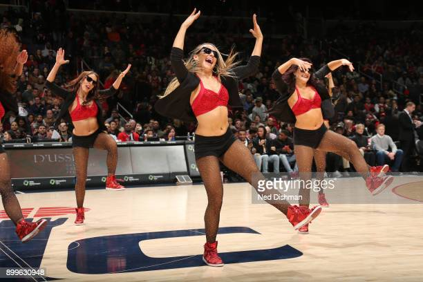 The Washington Wizards dance team performs during the game against the Houston Rockets on December 29 2017 at Capital One Arena in Washington DC NOTE...