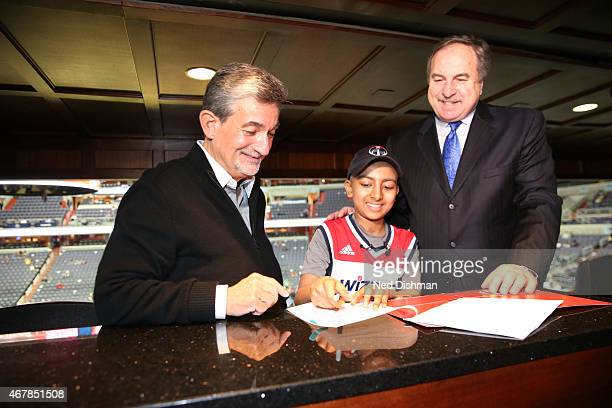 The Washington Wizards signed Nitin Ramachandran for the game against the Charlotte Hornets on March 27 2015 at Verizon Center in Washington DC NOTE...