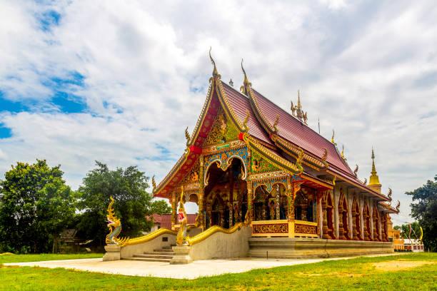 "The ""Wat Mai Muang Chum"" temple(3/4 view), in Chiang rai province (Thailand)"