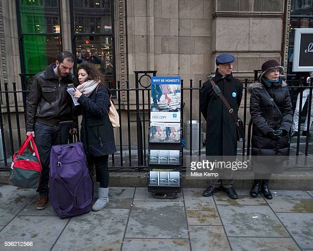 The Watchtower being handed out in the City of London UK The Watchtower Announcing Jehovah's Kingdom is an illustrated religious magazine published...