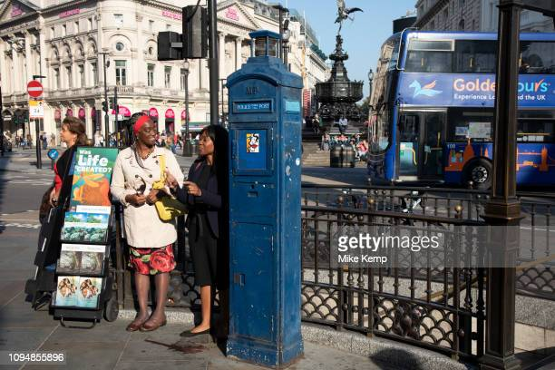 The Watchtower magazine being handed out in Piccadilly Circus in London United Kingdom The Watchtower Announcing Jehovah's Kingdom is an illustrated...