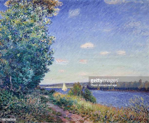 The water path at Sahurs Painting by Alfred Sisley 1894 08 x 1 m BeauxArts Museum Rouen France